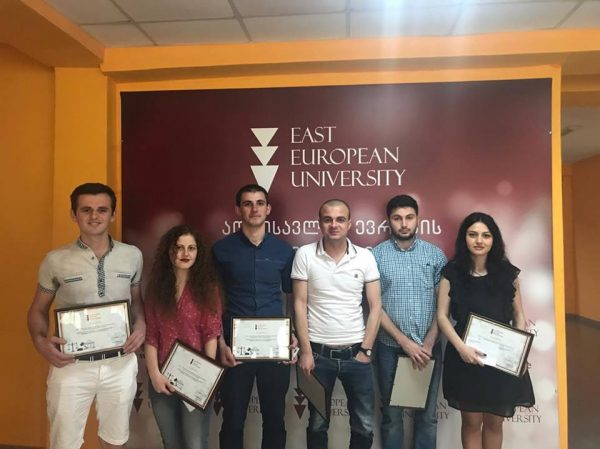 Rector of EEU Met  Students Competition of Imitation Processing In Criminal Law Winners And Awarded Each Member Of The Team!