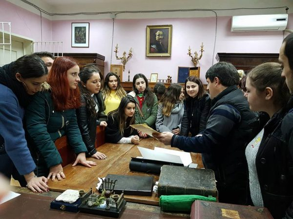 East European University students at Georgian National Center of Manuscripts!