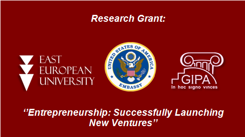 "EEU won the Grant the U.S. Embassy In Georgia Book Translation Program 2018 (PAS) by project: ""Entrepreneurship: Successfully Launching New Ventures!''"
