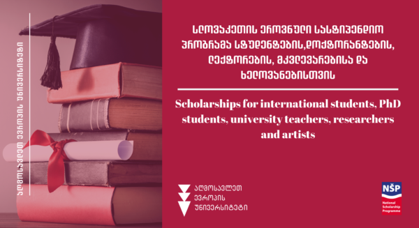 Scholarships for international students, PhD students, university teachers, researchers and artists