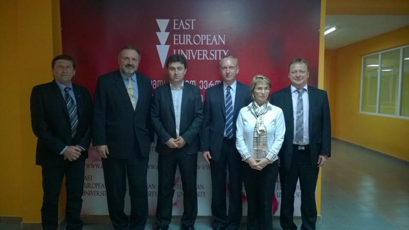 ჩეხეთის დელეგაცია აღმოსავლეთ ევროპის სასწავლო უნივერსიტეტში!