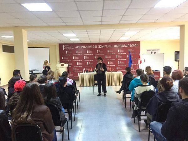 "Psychologist Lisa Sologashvili held Public lecture about ""Social Responsibility''!"