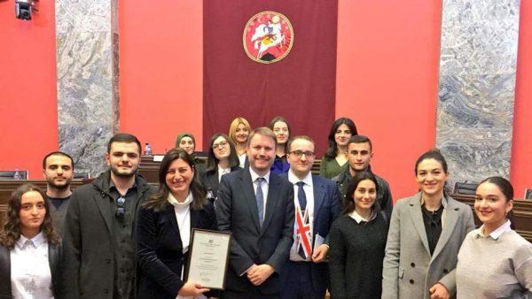 აღმოსავლეთ ევროპის უნივერსიტეტის სტუდენტები დიდი ბრიტანეთის ელჩს შეხვდნენ!
