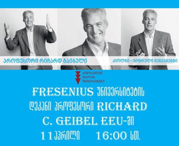 Meeting with DR. RICHARD C.GEIBEL, Dean of Fresenius University!