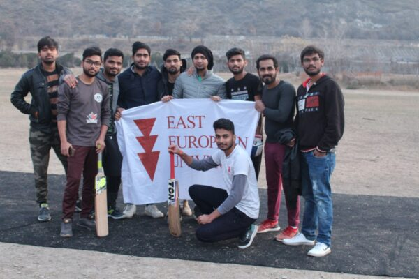 The winter cricket I round for EEU international students