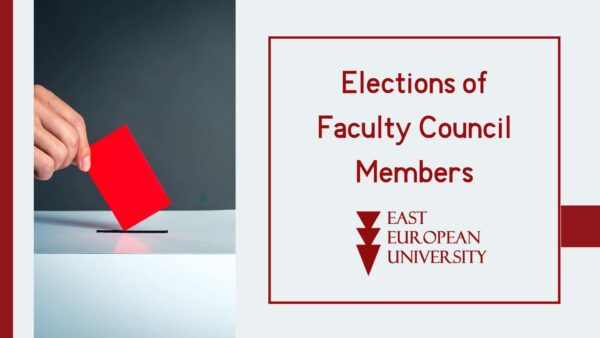 Elections of the Faculty Council members – For the academic staff and students of the University!