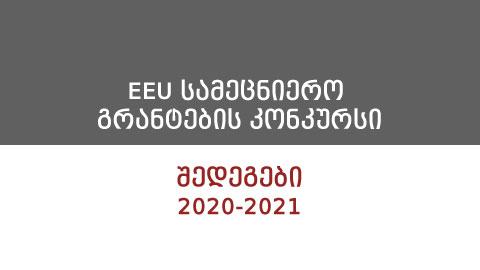 2020-2021 სასწავლო წლის სამეცნიერო გრანტების კონკურსის შედეგები!