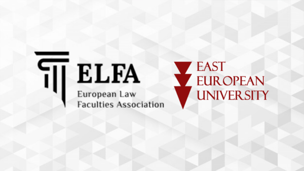 East European University Faculty of Law and Social Sciences has become a Member of the European Law Faculties Association (ELFA)