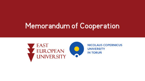East European University (EEU) and the Nicolaus Copernicus University in Toruń (NCU) signed a Memorandum of Cooperation