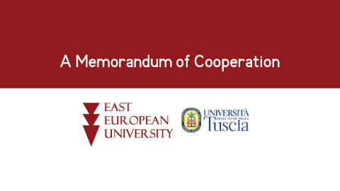 A Memorandum of Cooperation was signed between the East European University and the Tuscia University in Italy