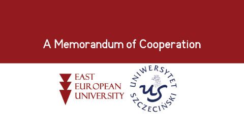 A Memorandum of Cooperation was signed between the East European University and the University of Szczecin