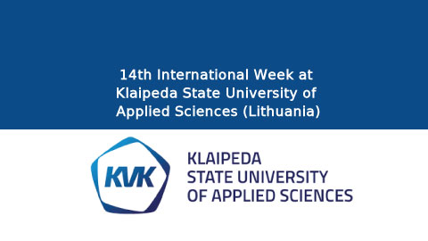 14th International Week at Klaipeda State University of Applied Sciences (Lithuania)