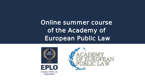 Online summer course of the Academy of European Public Law
