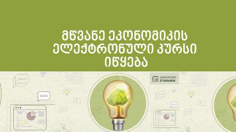 მწვანე ეკონომიკის ელექტრონული კურსი იწყება