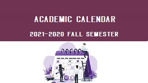 Registration for 2021-2022 academic year, fall semester!
